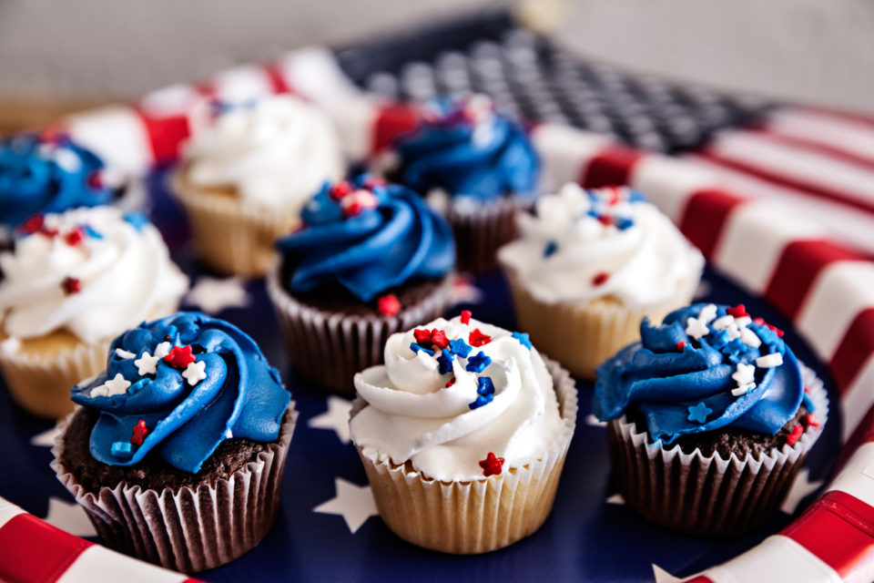 Cupcakes For Fourth Of July Party
